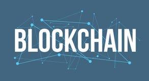 Diseño del logotipo del título de Blockchain stock de ilustración