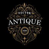 Diseño del marco de la antigüedad de la tipografía de la etiqueta del vintage ilustración del vector