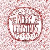 Diseño del marco de la plantilla para la tarjeta de Navidad stock de ilustración