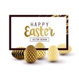 Diseño del marco de Pascua Imagen de archivo libre de regalías