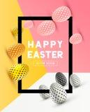 Diseño del marco de Pascua Imagen de archivo