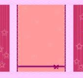 Diseño del marco del modelo para la tarjeta de felicitación Foto de archivo