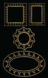 Diseño del marco del oro del vector stock de ilustración