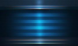 Diseño del marco metálico Concepto moderno de la tecnología digital del diseño del vector para el bavkground fotos de archivo