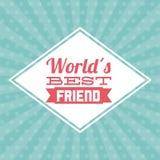 Diseño del mejor amigo Fotos de archivo