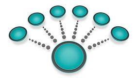 Diseño del menú Imagen de archivo libre de regalías