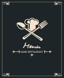 Diseño del menú Foto de archivo