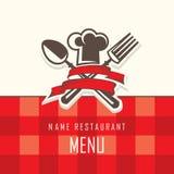 Diseño del menú Imágenes de archivo libres de regalías
