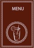 Diseño del menú de la barra del restaurante y de jugo Imagenes de archivo