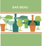 Diseño del menú de la barra, ilustración Fotos de archivo libres de regalías