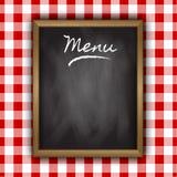 Diseño del menú de la pizarra Fotos de archivo