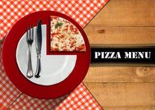 Diseño del menú de la pizza Imágenes de archivo libres de regalías