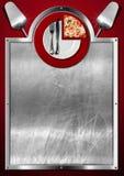 Diseño del menú de la pizza Foto de archivo libre de regalías