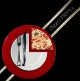 Diseño del menú de la pizza Fotografía de archivo libre de regalías
