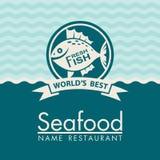 Diseño del menú de los mariscos Imagen de archivo libre de regalías