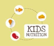 Diseño del menú de los niños stock de ilustración