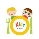 Diseño del menú de los niños Foto de archivo