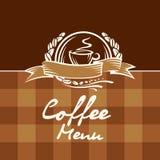 Diseño del menú del café Fotografía de archivo