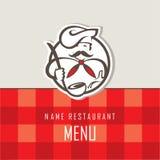 Diseño del menú del cocinero Imagen de archivo libre de regalías