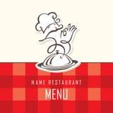 Diseño del menú del cocinero Fotos de archivo