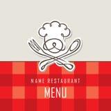 Diseño del menú del cocinero ilustración del vector