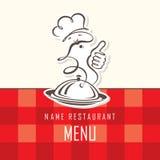 Diseño del menú del cocinero Fotografía de archivo libre de regalías
