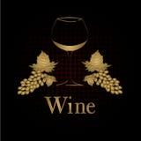 Diseño del menú del concepto de la copa de vino Imagen de archivo libre de regalías