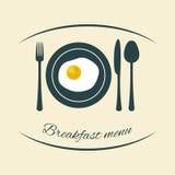 Diseño del menú del desayuno Fotografía de archivo