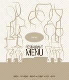 Diseño del menú del restaurante Imagen de archivo libre de regalías