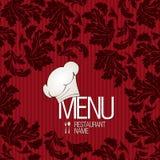Diseño del menú del restaurante Imagenes de archivo