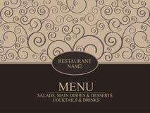 Diseño del menú del restaurante Foto de archivo libre de regalías
