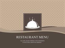 Diseño del menú del restaurante Imagen de archivo