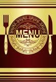 Diseño del menú del restaurante. Imagenes de archivo
