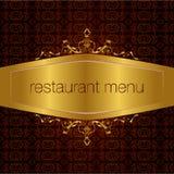 Diseño 02 del menú del restaurante stock de ilustración