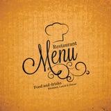 Diseño del menú del restaurante Fotos de archivo libres de regalías