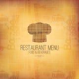 Diseño del menú del restaurante Fotografía de archivo libre de regalías