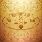 Diseño del menú del restaurante stock de ilustración