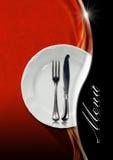 Diseño del menú del restaurante Fotografía de archivo