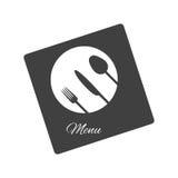 Diseño del menú del restaurante Imágenes de archivo libres de regalías