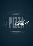 Diseño del menú del restaurante para la pizza Cartel para la pizzería Ilustración del vector Imagen de archivo