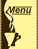 Diseño del menú para un café. Imágenes de archivo libres de regalías