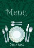 Diseño del menú del restaurante libre illustration