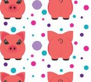 Diseño del modelo del cerdo stock de ilustración