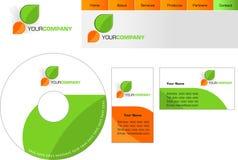 Diseño del modelo de insignia, lette Fotografía de archivo libre de regalías