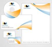 Diseño del modelo de insignia y de papel con membrete stock de ilustración