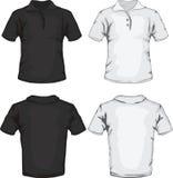 Diseño del modelo de la camisa de polo Fotos de archivo