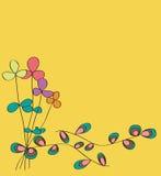 Diseño del modelo de la tarjeta de la flor Foto de archivo libre de regalías