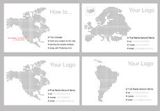 Diseño del modelo de la tarjeta de visita Fotos de archivo libres de regalías