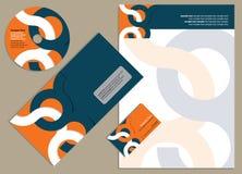 Diseño del modelo del papel con membrete Imagen de archivo