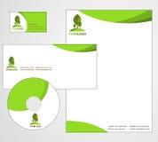 Diseño del modelo del papel con membrete - vector libre illustration